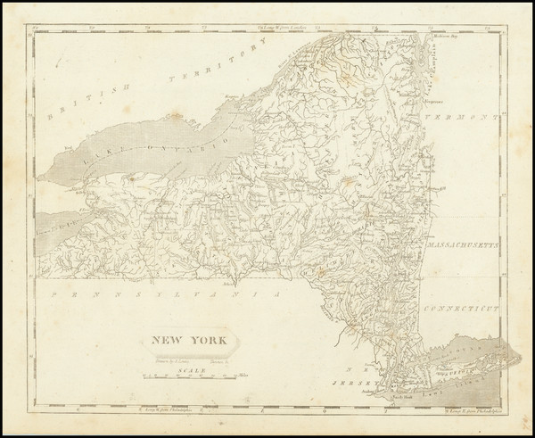 20-New York State Map By Aaron Arrowsmith  &  Lewis