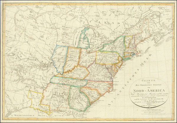 0-United States Map By Franz Ludwig Gussefeld