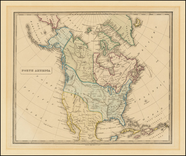 71-North America Map By Allan Bell & Co.