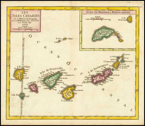 39-Portugal and African Islands, including Madagascar Map By Didier Robert de Vaugondy