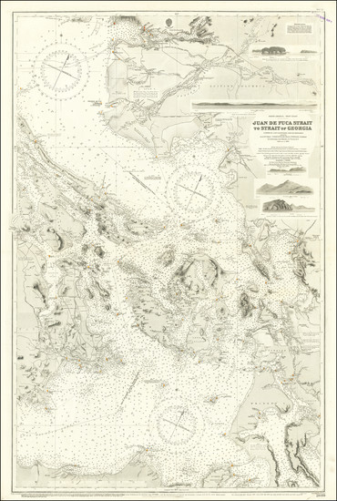 55-Washington and British Columbia Map By British Admiralty