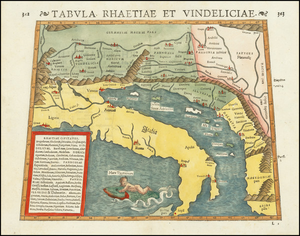 64-Balkans and Italy Map By Strabo