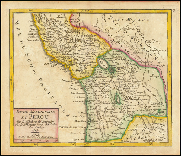 4-Guianas & Suriname Map By Gilles Robert de Vaugondy