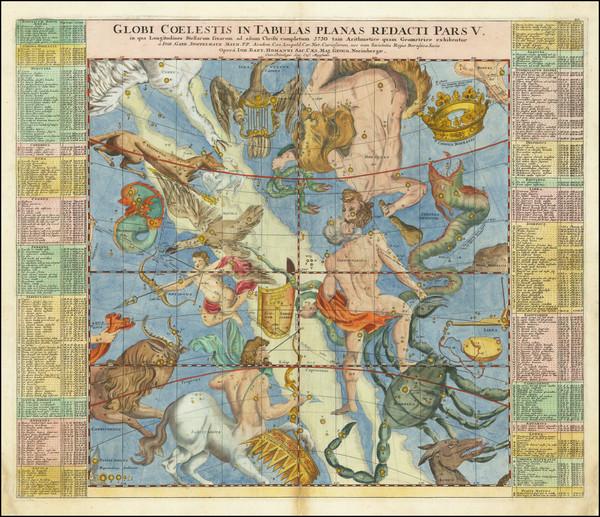 13-Celestial Maps Map By Johann Gabriele Doppelmayr