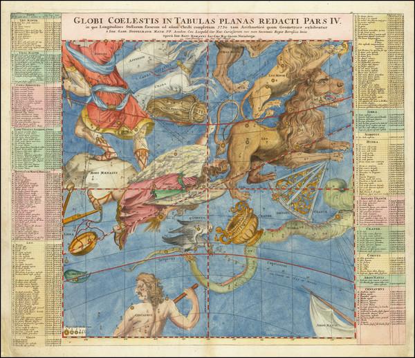 50-Celestial Maps Map By Johann Gabriele Doppelmayr