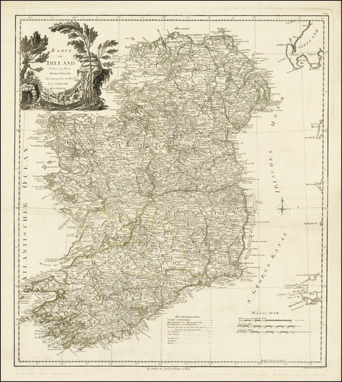 25-Ireland Map By Franz Anton Schraembl
