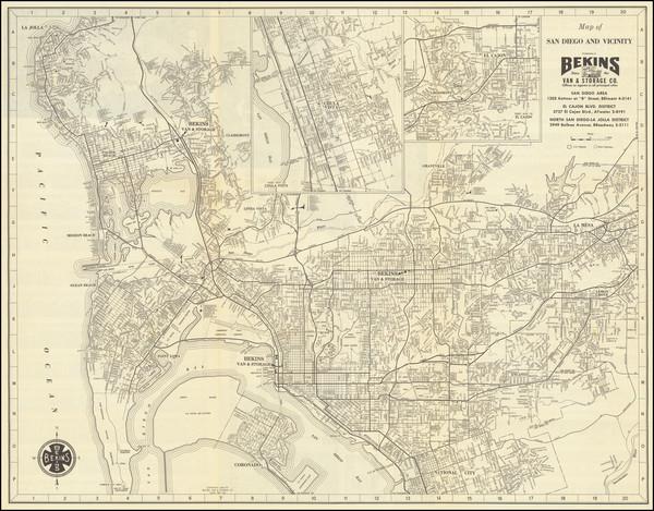 58-San Diego Map By Bekins Van & Storage Co.