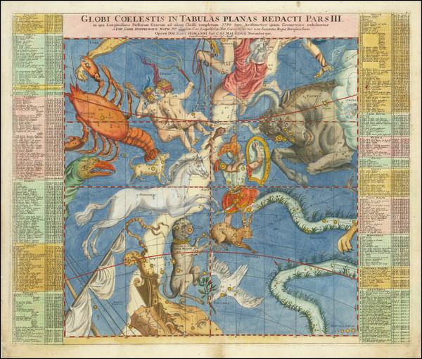 81-Celestial Maps Map By Johann Gabriele Doppelmayr