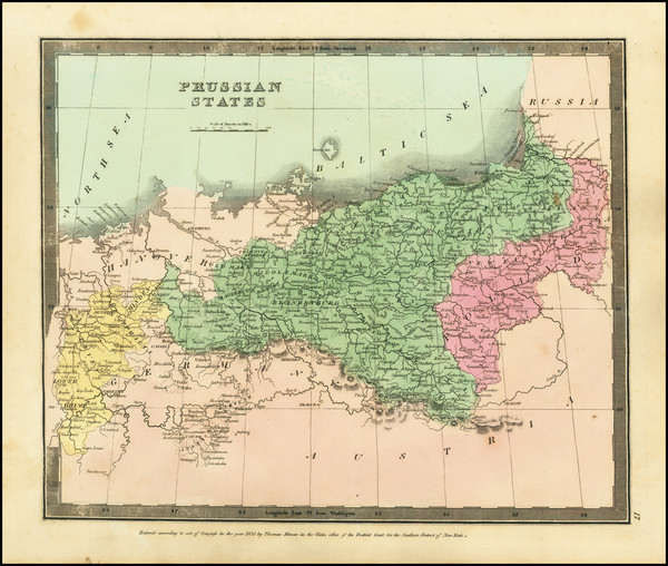 28-Germany and Poland Map By David Hugh Burr