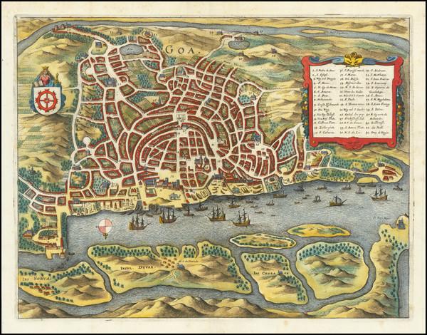 83-India Map By Matthaus Merian
