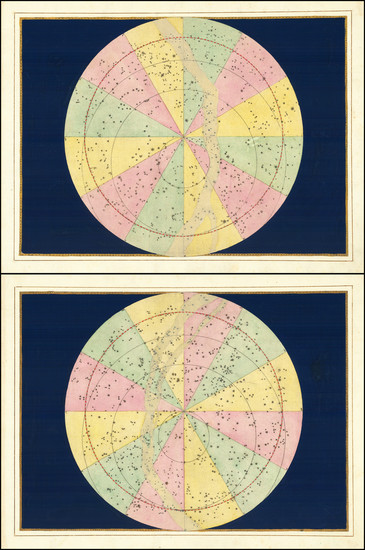 90-Celestial Maps Map By Johann Bayer