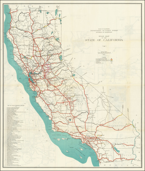 36-California Map By State of California Division of Highways