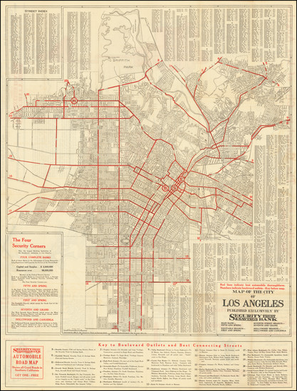 27-Los Angeles Map By The Clason Map Company