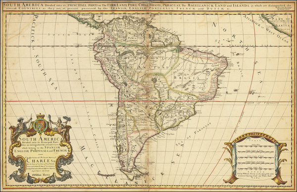52-South America Map By William Berry
