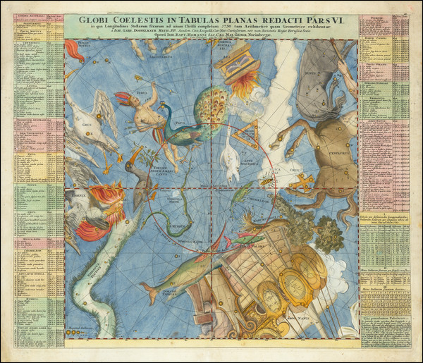 46-Celestial Maps Map By Johann Gabriele Doppelmayr