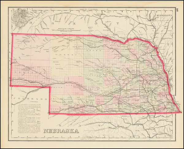 66-Nebraska Map By O.W. Gray