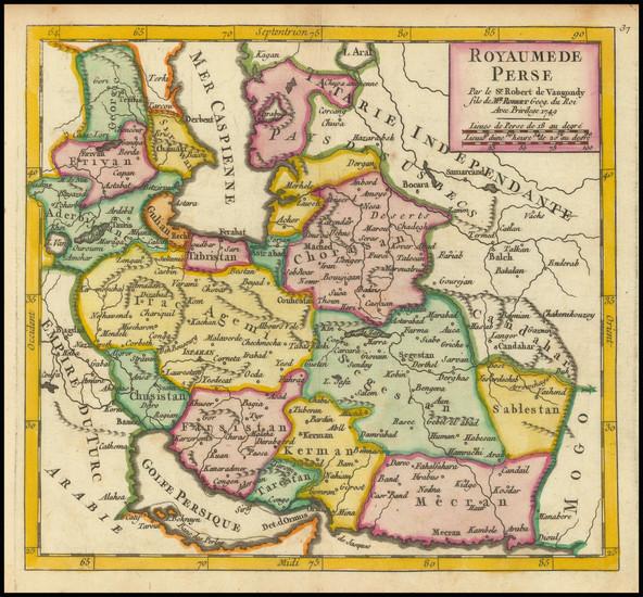 29-Persia Map By Gilles Robert de Vaugondy