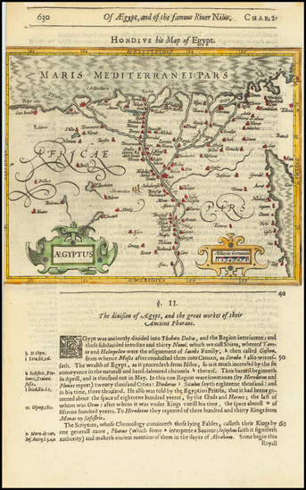 54-Middle East, Egypt and North Africa Map By Jodocus Hondius / Samuel Purchas
