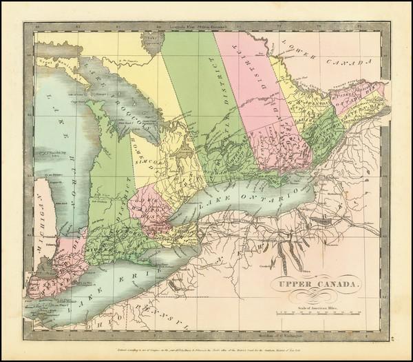 76-Eastern Canada Map By David Hugh Burr