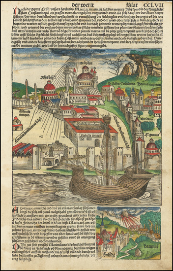 34-France, Turkey and Curiosities Map By Hartmann Schedel