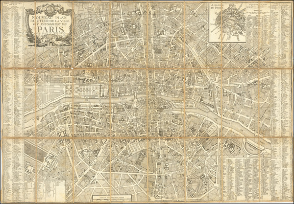 69-Paris Map By Jacques Esnauts  &  Michel Rapilly
