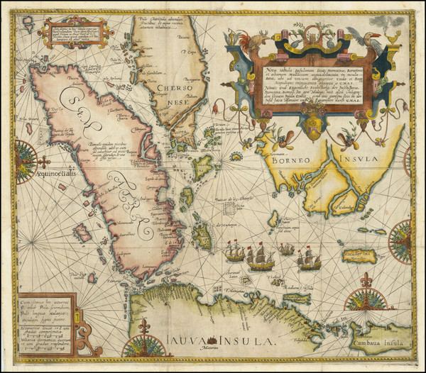43-Southeast Asia, Singapore, Indonesia and Other Islands Map By Theodor De Bry