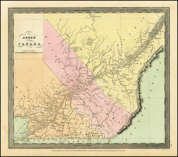 10-Eastern Canada Map By David Hugh Burr
