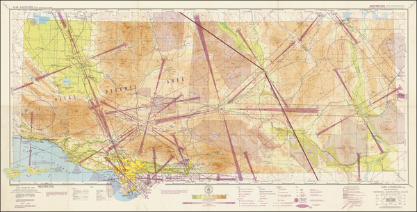 89-California and Los Angeles Map By U.S. Coast & Geodetic Survey