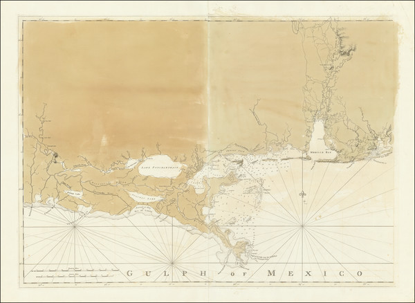 53-Florida, Louisiana, Alabama and Mississippi Map By Joseph Frederick Wallet Des Barres