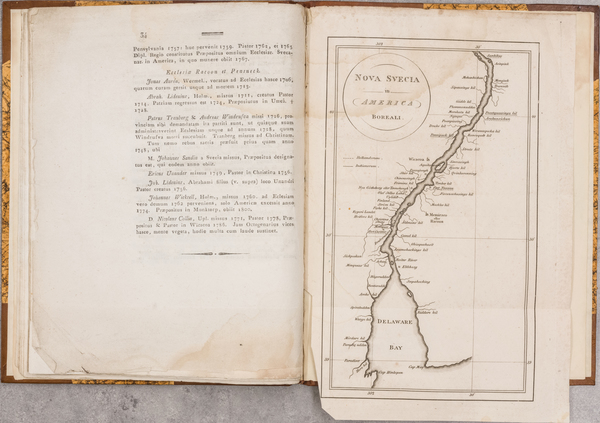 76-New Jersey, Pennsylvania, Delaware and Rare Books Map By Carl David Arfwedson
