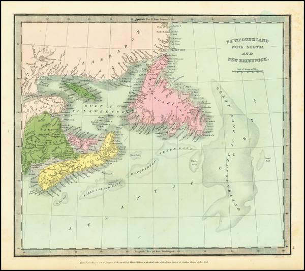 42-Eastern Canada Map By David Hugh Burr