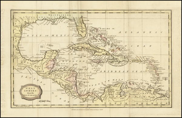 67-Florida, Caribbean and Central America Map By Charles Brightly  &  E. Kinnersly