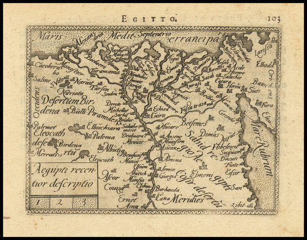23-Egypt Map By Abraham Ortelius