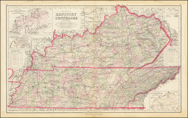 81-Kentucky and Tennessee Map By Frank Gray