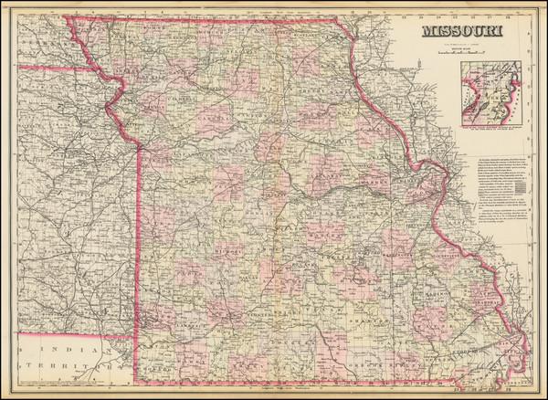 21-Missouri Map By O.W. Gray