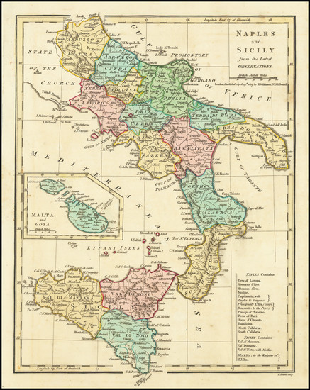 62-Southern Italy and Sicily Map By Robert Wilkinson