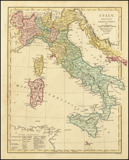 42-Italy Map By Robert Wilkinson