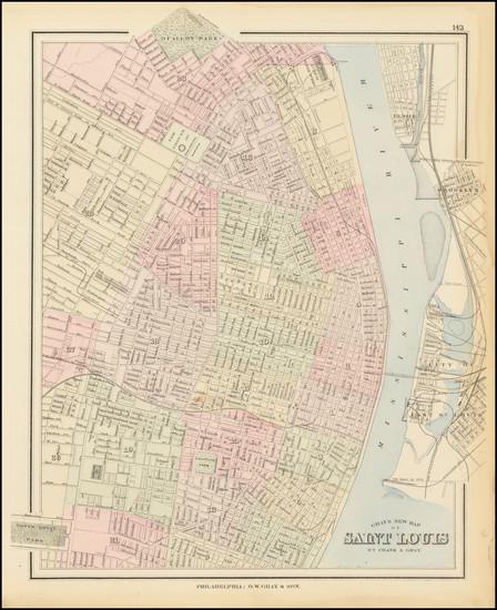 77-Missouri Map By O.W. Gray