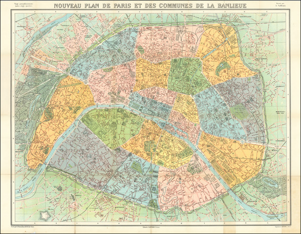 32-Paris Map By Garnier Frers.