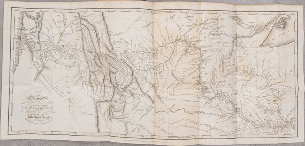 61-United States, Midwest, Plains, Rocky Mountains and Rare Books Map By Meriwether Lewis  &