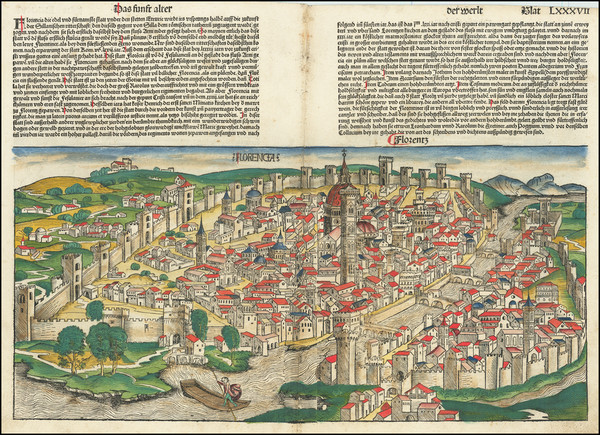 87-Other Italian Cities Map By Hartmann Schedel