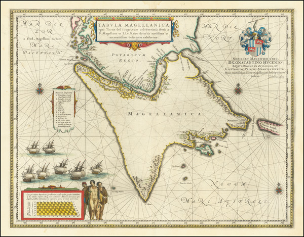 31-Polar Maps, Argentina and Chile Map By Willem Janszoon Blaeu