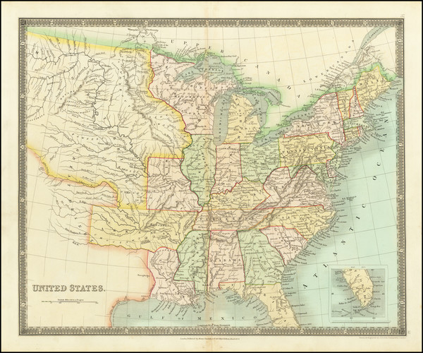 58-United States Map By Henry Teesdale