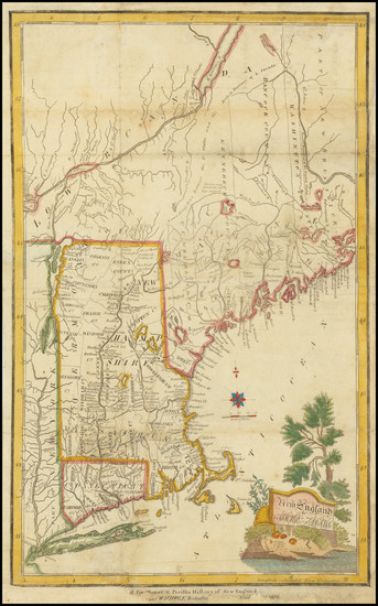 44-New England Map By Arthur Adams