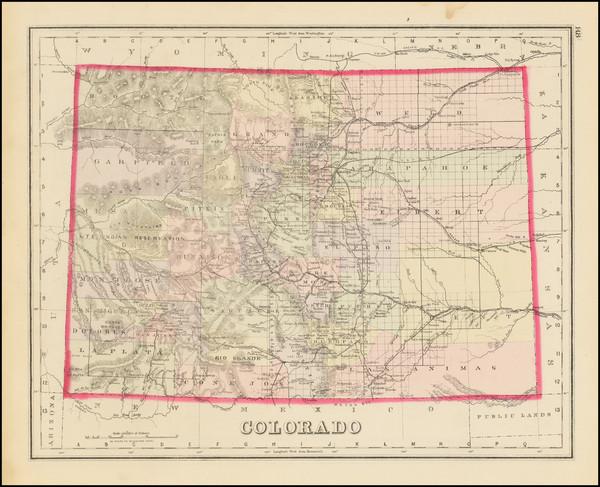 86-Colorado and Colorado Map By O.W. Gray