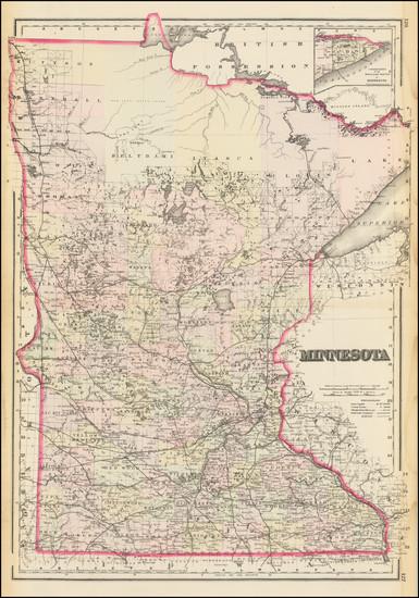 80-Minnesota Map By O.W. Gray