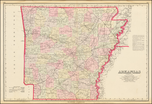 42-Arkansas Map By O.W. Gray