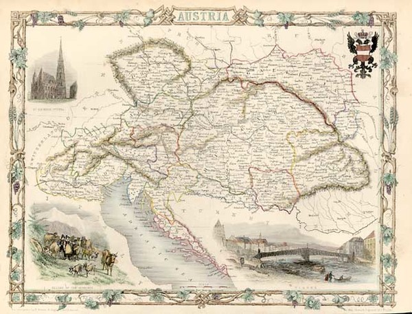 84-Europe and Austria Map By John Tallis
