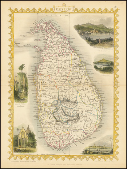 43-Sri Lanka Map By John Tallis