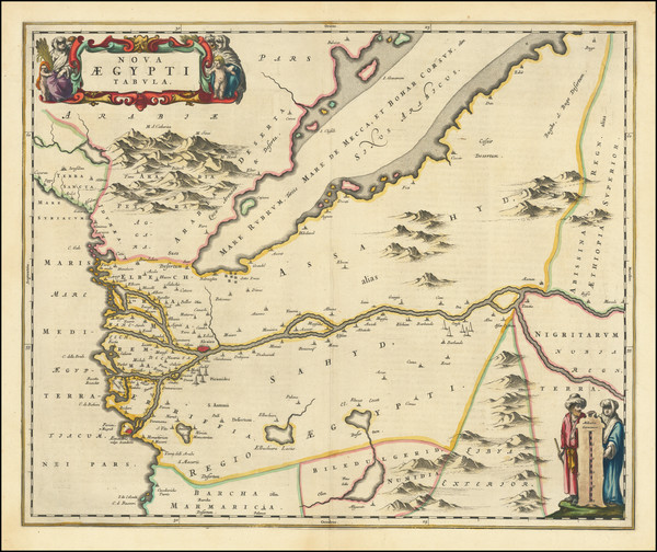 42-Egypt Map By Johannes Blaeu